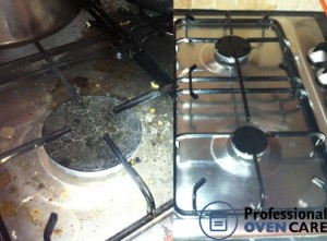 hob cleaning before and after