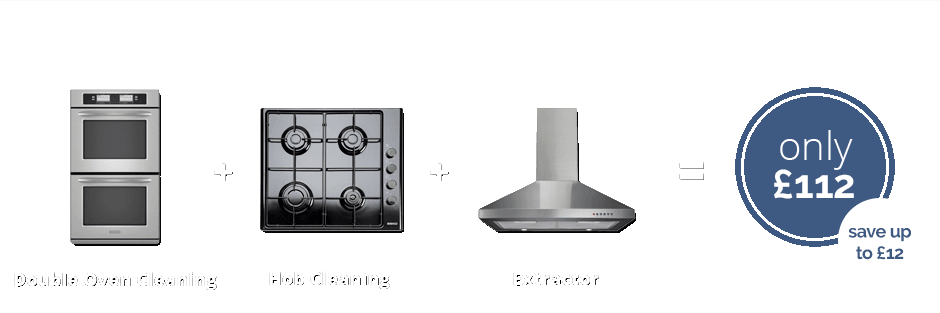 Double oven + Hob + Extractor for only £112 (save up to £12)
