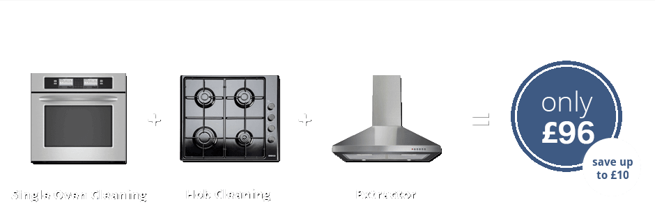 Single oven + Hob + Extractor only £96 (save up to £10)
